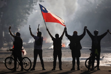 Violence of Chilean Police against Protesters